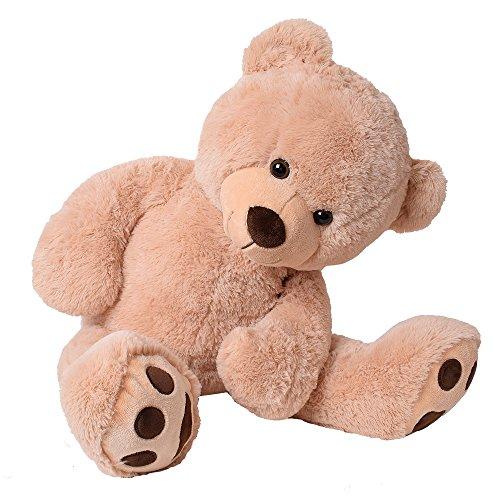 TE-Trend XXL Riesen Teddybär Plüsch Kuscheltier Riesenplüsch Riesenteddy Bär Luca beige 100 cm gestickte Tatzen