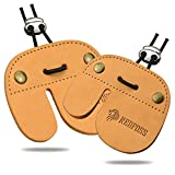 NedFoss Archery Finger Tab, Handmade Genuine Leather Archery Glove Finger Tab Accessories, Protect Guard for Recurve Bow, Compound Bow, Shooting Practice Gear - Suitable for Left Hand and Right Hand