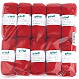 Gründl - Gomitoli di Cotone Cotton Quick, Confezione Risparmio, Cotone, Ciliegia, 29 x 12 x 7 cm