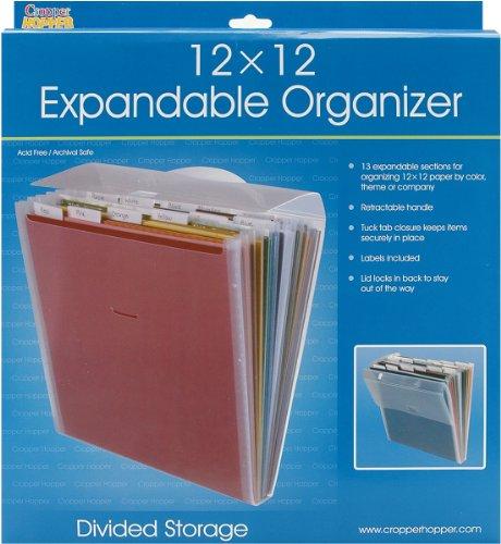 Advantus Cropper Hopper Expandable Paper Organizer, Frost, 12-Inch-by-12-Inch