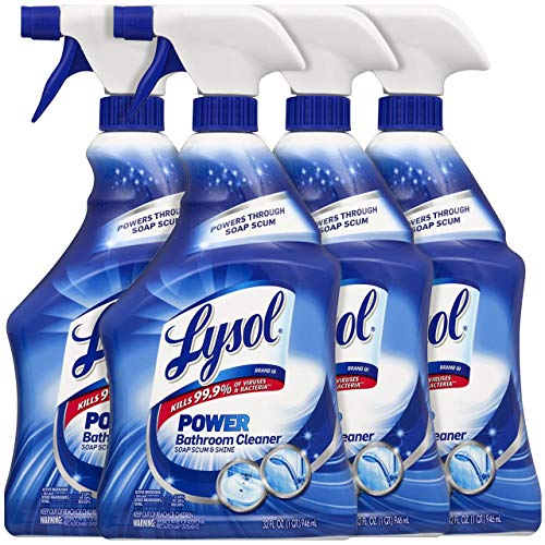 Lysol Bathroom Cleaner, Island Breeze Scent, 32 Ounce (Pack of 4)