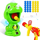 Dinosaur Toys Shooting Target Toy Gun for Kids-Air Pump Shooting Game with 36 Foam Balls,Electronic Target Practice Party Toys with Score Record,Sound and LED,Gifts for 5 6 7 8 9 Years Old Boys Girls