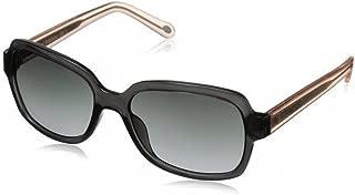 Women's FOS3027S Rectangular Sunglasses Gray Crystal Pink Crystal (gray gradient lens) 0DG2