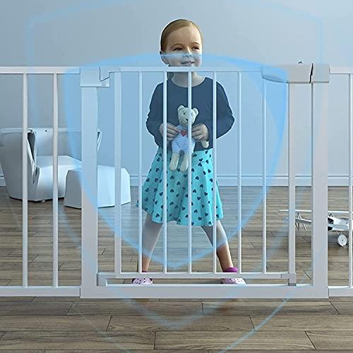 Safety 1st Extensión para Easy Close Metal y Auto Close, mejora las puertas de seguridad para escaleras de la puerta mágica reubicables para bebés para escaleras / puertas(Size:173-180cm,Color: white)