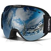 TOMSHOO Skibrille, Snowboard Brille Schutzbrillen Mit UV-Schutz und Anti-Nebel f¨¹r Herren Damen Jungen und M?dchen, Winddichte Ski Sonnebrille f¨¹r Skifahren Skaten Motorrad Schneesport
