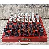Juego de Tablero de ajedrez de Madera,Juego de ajedrez con temática de Guerreros de Terracota Chinos Vintage Plegable,vívido y único,Resistente a los arañazos para niños Adultos,como Regalo