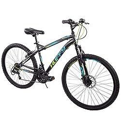 professional Huffy 26 ″ Nighthawk Men's Mountain Bike, Matte Black, 18 Speed