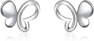 WOMANS Ragazze Argento Sterling Sintetico 4mm Pearl Orecchio Borchie-CONFEZIONE REGALO