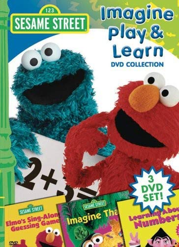 51F5tVpxP2L. SL500  - Sesame Street: Imagine, Play, and Learn Collection (Imagine That / Learning About Numbers / Sing Along Guessing Game)