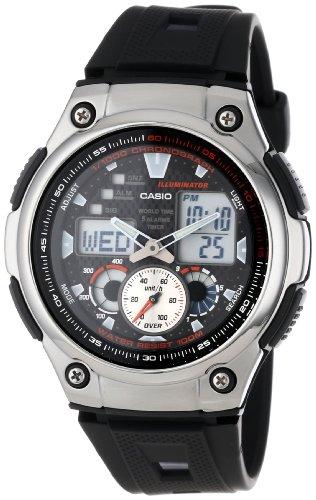 Casio AQ190W-1A Men's Multi-Task Gear World Time Chronograph Sports Illuminator Ana-Digi Watch
