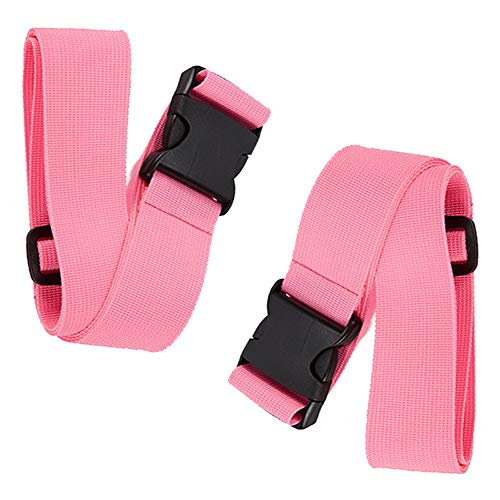 BlueCosto Luggage Straps Suitcase Belt Travel Accessories, 2-Pack, Pink