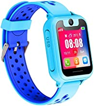 LDB Direct Kids Smartwatches - Children GPS/LPS Touch Screen SOS Tracker Smart Watch Phone with Tow-Way Call Voice Chat Game Flashlight for Boys Girls Birthday (Blue)