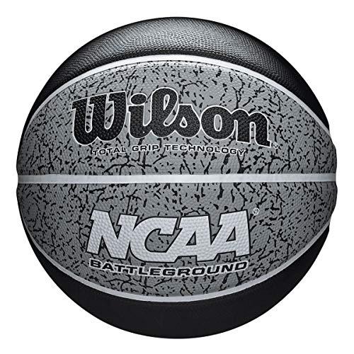 Wilson Men's NCAA BATTLEGROUND 295 BSKT Basketball, BLACK/GRAY, OFFICIAL
