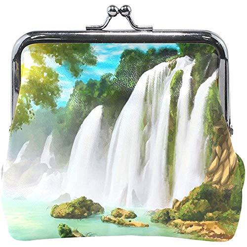 Berg waterval schilderij muntcassette portefeuille dames portemonnee