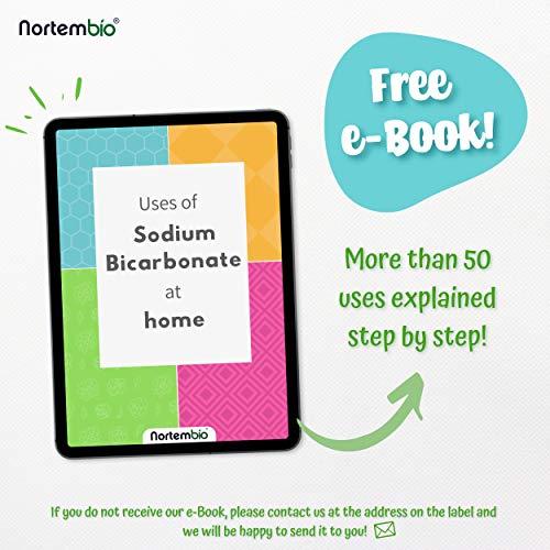Nortembio Bicarbonato de Sodio 6kg, Insumo Ecológico de Origen Natural, Libre de Aluminio, EBook Incluido.