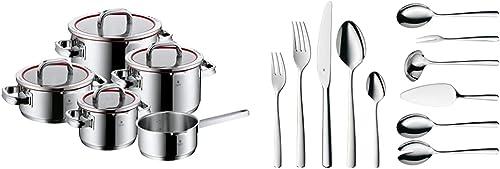Wmf Function 4 Batería De Cocina, 5 Piezas Acero Inoxidable, Apta Para Todo Tipo De Cocinas Incluso Inducción + Bosto...