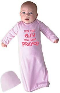 Cute Rascals for This Child We Have Prayed Cotton Newborn Sleeping Gown One Piece