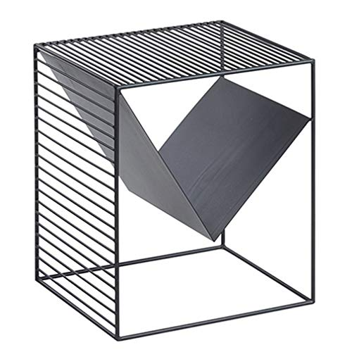 Moderne Metall Sofa Beistelltisch, Wohnzimmermöbel Beistelltische Platz Couchtisch Zeitungsständer, Eisen Nachttisch Lampe Tisch, Home Art Deco