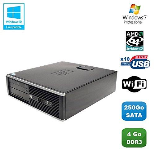 HP PC Compaq 6005 Pro SFF AMD Athlon X2 B28 3.4GHZ 4gb 250gb WiFi Quemador W7 Pro