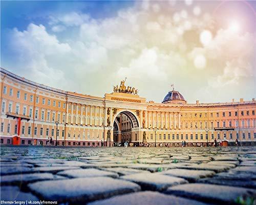Aymsm Rompecabezas de Navidad 1000 Piezas, st. Petersburg, Sierras de calar Plaza del Palacio