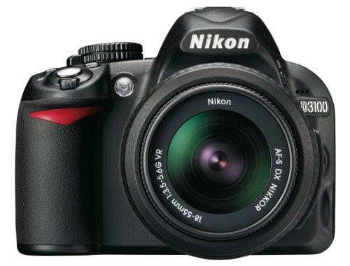 Nikon D3100 SLR-Digitalkamera (14 Megapixel, Live View, Full-HD-Videofunktion) Kit inkl. AF-S DX 18-55 mm VR Objektiv + 55-200 mm VR Objektiv