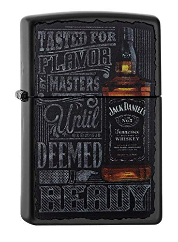 Zippo Zippo 60002093 PL Jack Daniels Feuerzeug, Messing, Edelstahloptik, 1 x 3,5 x 5,5 cm Edelstahloptik