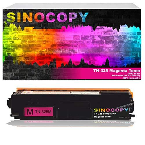 SinoCopy Toner ersetzt Brother TN-325 Magenta für Brother DCP-9055CDN, DCP-9270, HL-4140, HL-4150, HL-4570, MFC-9460CDW, MFC-9970, MFC-9560 - Magenta 3.500 Seiten TN 325 TN 328