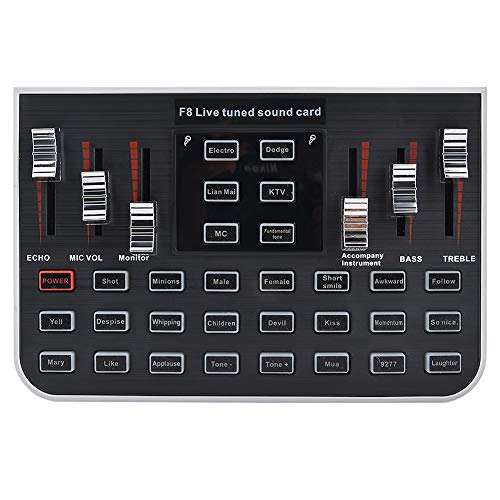 Sound Card, Portable Voice Changer for Live Mobile Phone, Live Computer, WeChat, etc, 23 Special Effects and 12 Kinds of Electronic Sound