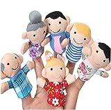 Scrox 6pcs Marionetas de Mano Mi Familia Teatro de Marionetas Muñecas Peluches para Bebes...