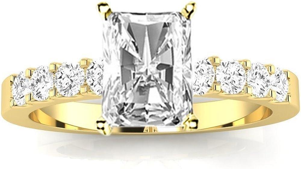 2 Ctw 14K White Gold Classic Set Prong Ranking TOP15 Radiant Cut Columbus Mall IGI Certified
