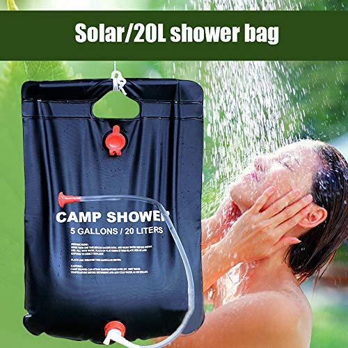 Find Bargain 20L Outdoor Solar Heating Bath Bag, Portable rain Shower Bag for Hiking and Camping, Fo...