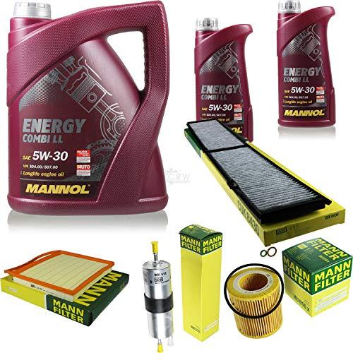 QR-Parts Kit 85521918 C 36 004 MN7907-1 HU 816 x WK 515 CUK 8430 MN7907-5 7 L Energy Combi LL 5W-30 + paquete de filtros MANN 10930094