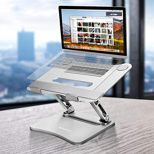 Laptop Stand Adjustable Height, Laptop Holder, Laptop Rise with Heat-Vent to Elevate, Compatible with MacBook, Air, Pro,Dell XPS, Samsung, Alienware, All Laptops 10-17.5 inches, Silver …
