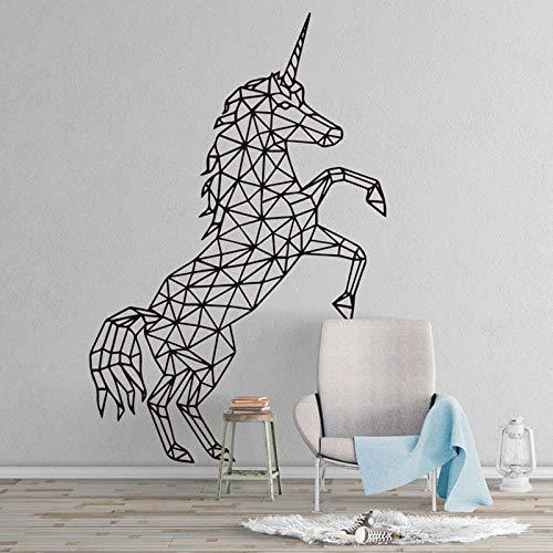 Calcomanías geométricas de unicornio para pared, decoración Interior del hogar para sala de estar, dormitorio, decoración, Mural, pegatina de arte minimalista A1 57x87cm