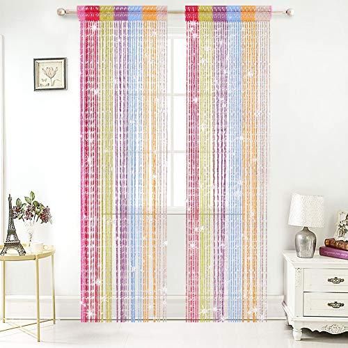 AIFENTE String Curtain Panel Fringe Window Room Thread Fringe Divider Door String Curtain Room Curtains
