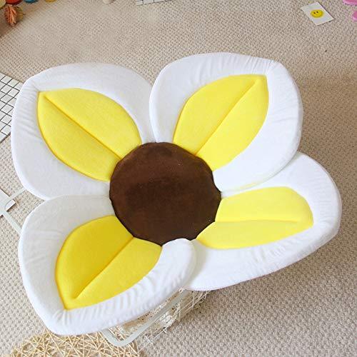 TRER babybadmat vierbladige bloemblaadbadmat wastafel met bloemenbadmat en comfortabele badmat voor pasgeborenen oranje