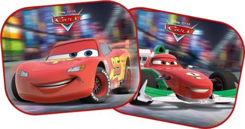Disney Cars 28308 Seitenscheiben - Sonnenblenden, 2 Stück - 35 x 30 cm, für Kinder - Lightning McQueen und Francesco