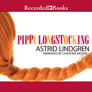 Pippi Longstocking audiobook cover art