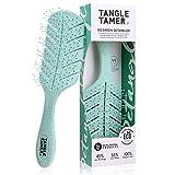 Cepillo desenredante – Cerdas ultrasuaves, disuelve fácilmente a través de los rizos para rizos rectos, mujeres y hombres, niños mojados secos (verde)