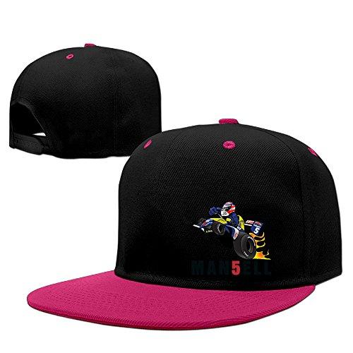 メンズ レディース ナイジェル・マンセル Nigel Mansell 平らつば 野球帽 BBキャップ One Size ピンク