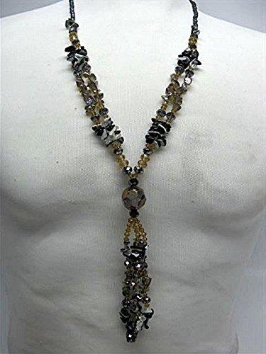 Natural mente – Agate, collier, env. 65 cm, pierre naturelle, collier, chaîne, agate, n ° 1010