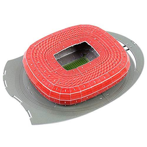 Xuebai DIY 3D Puzzle Jigsaw World Football Stadium Soccer Playground Assembled Building 3D Puzzle Jigsaw A#