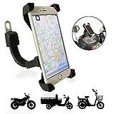 Support Telephone Moto TTMOW Universel Ajustable Support Téléphone Scooter Anti-Vibrations Rotation de 360 Degrés Installé sur Le Rétroviseur pour Smartphone GPS et Autres appareils (Noir)