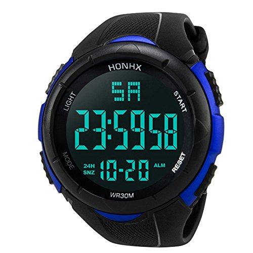 OSYARD Herren Uhren, Männer Luxus Analog Digital Militär Heer Sport LED Wasserdicht Armbanduhr,Digitale Sportuhr Outdoor Armbanduhren für Männer,LED Uhren Elektronische Gegenlicht Digitaluhr