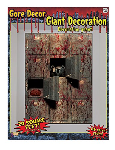 Forum Novelties 20 Square Ft Morgue Wall Backdrop Halloween Party Decoration One Size