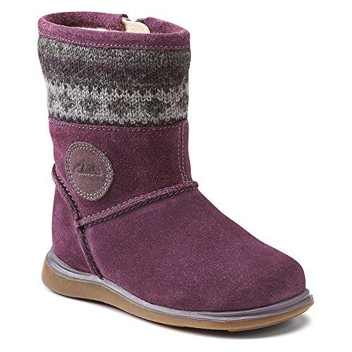 Clarks 67581 Girls Snugglehug T Boot,Purple,8.5 M US