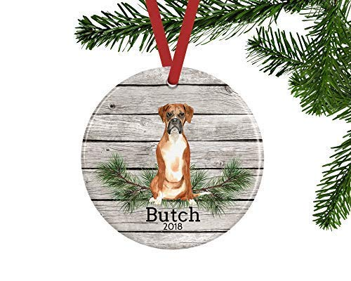 Personalized Boxer Christmas Ornament, Christmas Decoration, Custom Housewarming Gift