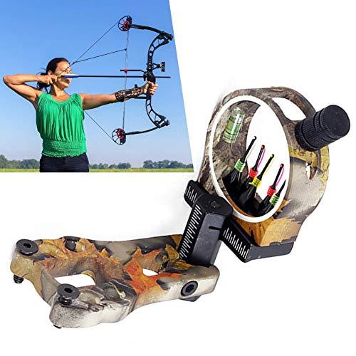 didatecar Zielvorrichtung Bogen Visier 5 Pin Links Oder Rechts Aluminiumlegierung Visierung Einstellbare Faser Tag Und Nacht Jagd Bogenschießen Zubehör Fitting