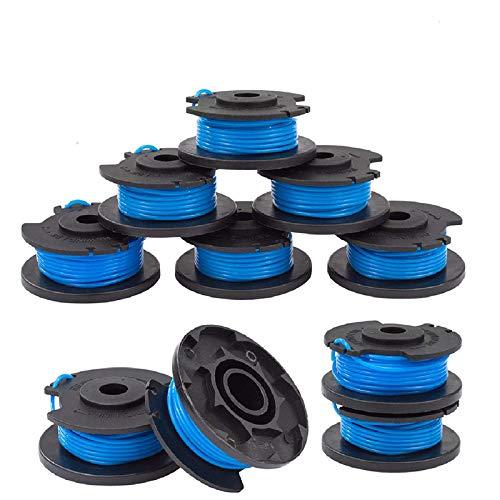 """Ersatz-Trimmer-Spule, 10 Packungen Ersatz-Trimmerdraht + 1 Abdeckung (Beutel), geeignet für Ryobi One Plus AC14RL3A 18V 24V 40V 11Fuß 0,065""""Achse für die automatische Zufuhr von kabellosem Unkraut"""