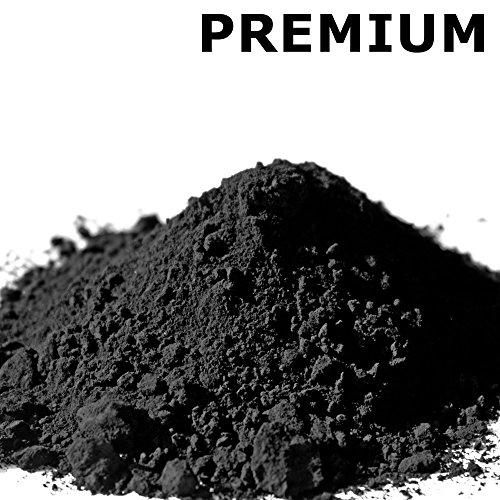 @tec Premium Pigmentpulver, Eisenoxid, Oxidfarbe - 1kg Farbpigmente/Trockenfarbe für Beton, Epoxidharz + Wand - Farbe: schwarz